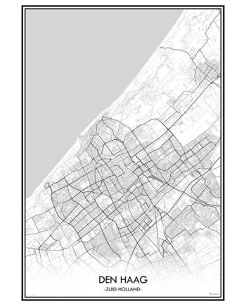 poster den haag classic stad print nederland zuid-holland zuid holland