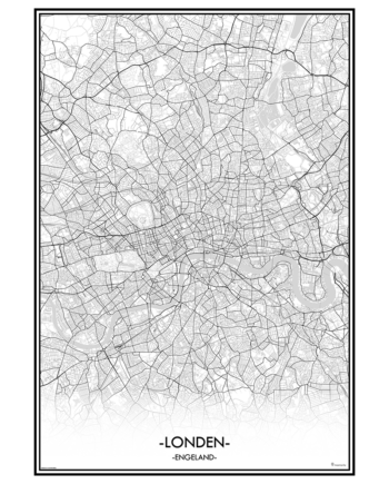 poster london londen city map kaart stad