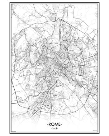poster Roma rome Italië italie city map kaart stad