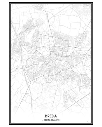 poster breda classic stad print nederland noord brabant