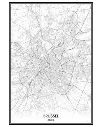 poster brussel belgie België city map kaart stad mapmycity