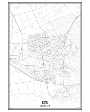 poster Ede classic stad print gelderland kaart