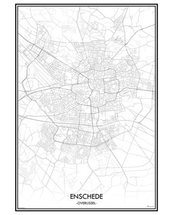 poster enschede classic stad print nederland overijssel stad