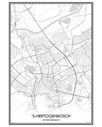 poster 's-Hertogenbosch classic stad print nederland den bosch