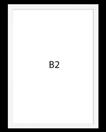 Basic fotolijst hout B2 wit
