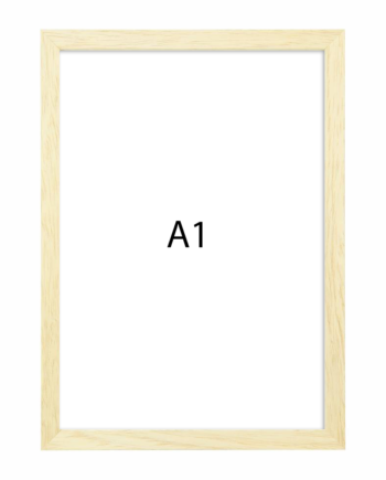 Premium fotolijst hout A1 blank