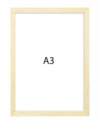 Premium fotolijst hout A3 blank eiken