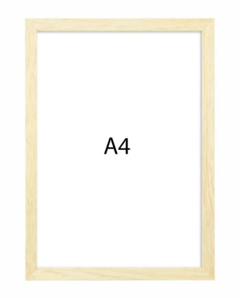 Premium fotolijst hout A4 blank eiken