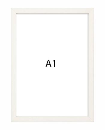 Premium fotolijst hout A1 wit gewassen