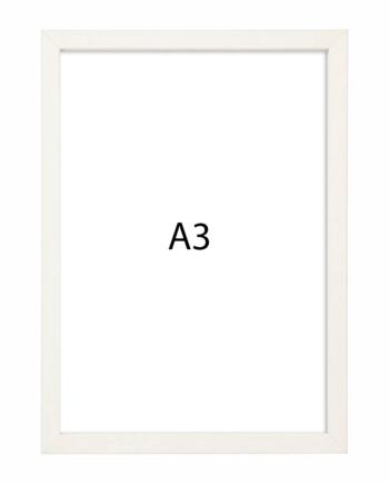 Premium fotolijst hout A3 wit gewassen