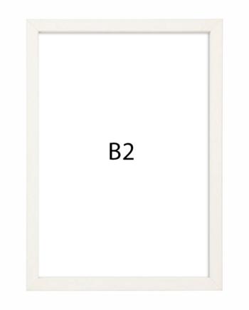 Premium fotolijst hout B2 wit gewassen