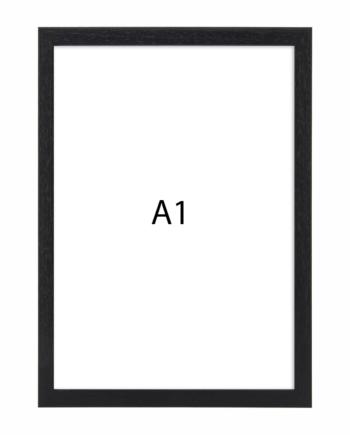 Premium fotolijst hout A1 zwart