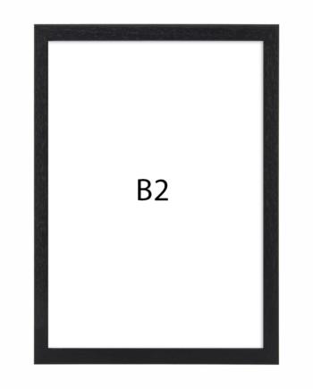 Premium fotolijst hout B2 zwart